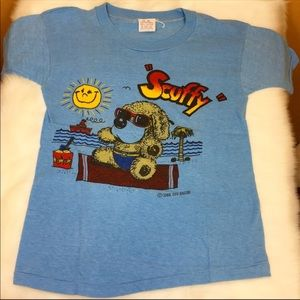 Vintage 80s Scuffy Beach Dog Youth T-shirt